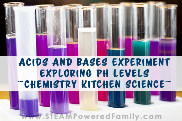 Acids and Bases Experiment Exploring pH Levels – Chemistry Kitchen Science