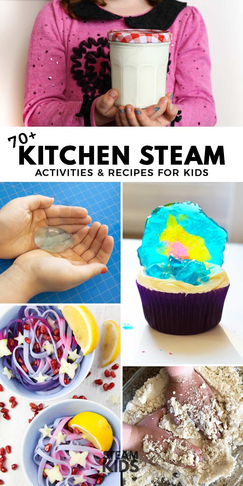 A new book in the wildly successful STEAM Kids book series, STEAM Kids in the Kitchen is packed with over 70 activities