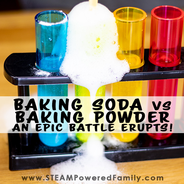What's the difference between baking powder and baking soda? Find out in this epic science experiment of eruptions!