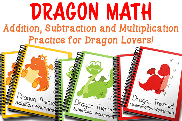 Dragon Math Practice Worksheets