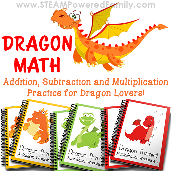 Dragon Math Worksheets for math practice that is anything but boring