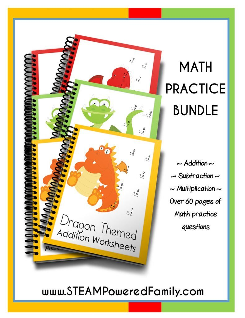 Dragon Math Practice Sheets