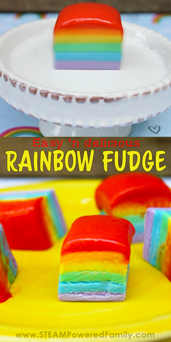 Easy and delicious rainbow fudge recipe for kids that they love to make and eat