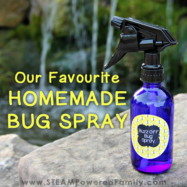 It's summer and that means sunshine, outdoor adventures, summer camp and bugs! Here is our favourite homemade bug spray for kids and adults. It uses a number of ingredients plus essential oils to create a spray that tells bugs to BUZZ OFF! But smells wonderful to us, and picky kids. Printable label available.