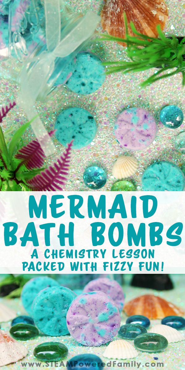 A Mermaid bath bomb recipe that makes it super easy to DIY your very own bath bombs with the kids. This time we used a variation on a previous recipe so we could explore the chemical reactions of bath bombs and why they fizz, turning it onto a great chemistry lesson. Check out the bath bomb making video tutorial for quick and easy steps to do with your kids today.