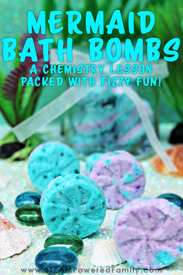 Mermaid bath bombs with a beautiful under the sea feel and scent. Simple recipe makes it easy for kids