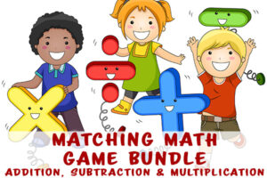 Math Matching Game to solidify skills in addition, subtraction and multiplication
