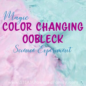 Colour changing oobleck recipe and science experiment to inspire young scientific minds