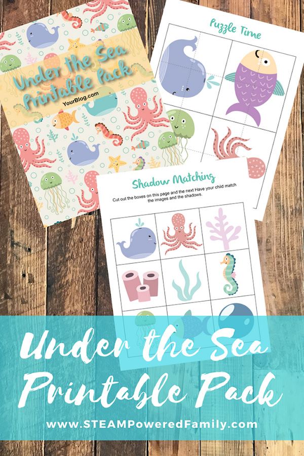Under the sea activity pack for preschoolers and kinder