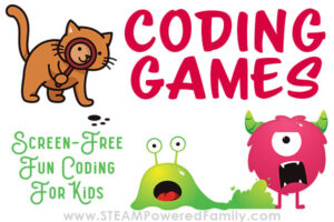 Coding Monsters and Coding Cats are a fun coding game for kids kindergarten through grade 4 to learn essential early coding skills