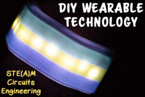 Wearable Technology make your own cuff that lights up with conductive thread