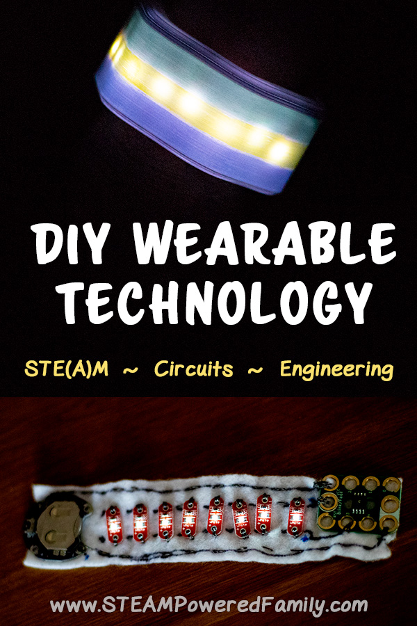 DIY Wearable Technology perfect for Halloween Costumes and teaching the makers of tomorrow about circuits, electricity and engineering