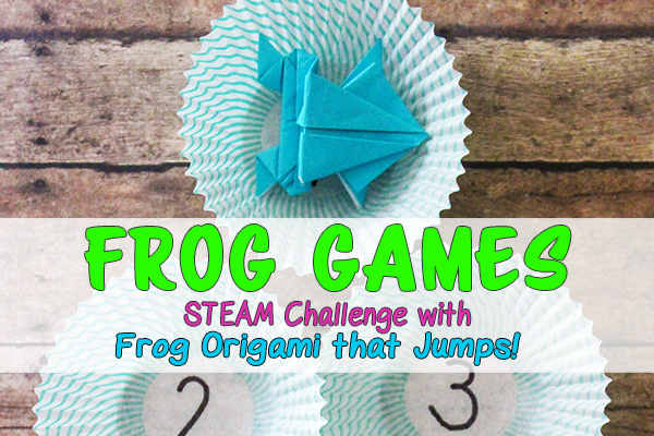 Origami frog games STEAM education challenge