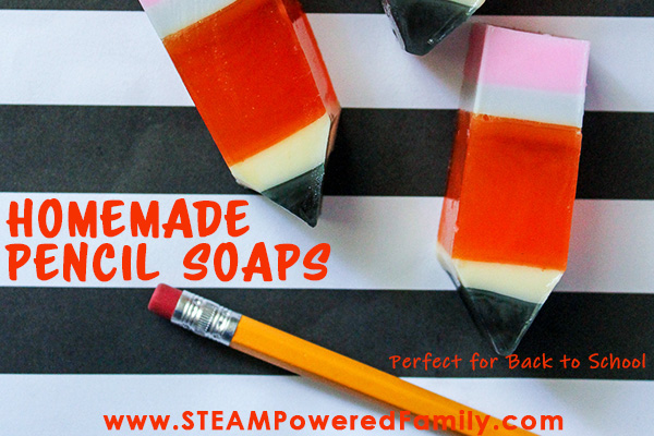 This crazy cute homemade soaps make a great back to school project for kids