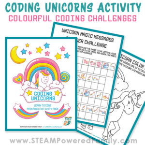 Coding for kids has never been so fun and colourful! Coding Unicorns is an exciting activity workbook that teaches coding to elementary aged kids