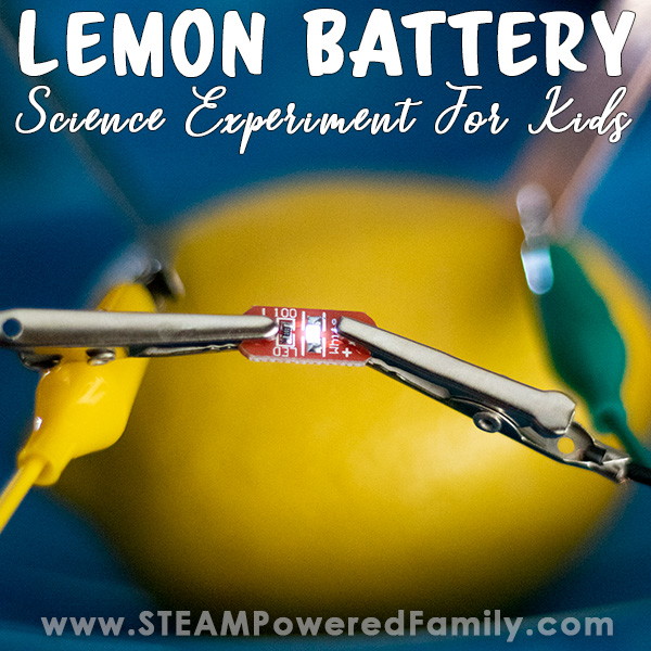 Learn all about electricity, batteries, power and more by building a Lemon Battery in this science experiment