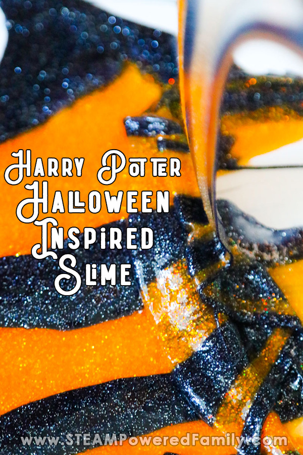 Harry Potter inspired Halloween slime for kids that is so easy to make with Elmers Glitter Glue