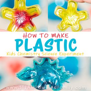 How to make hard, clear plastic science experiments for kids