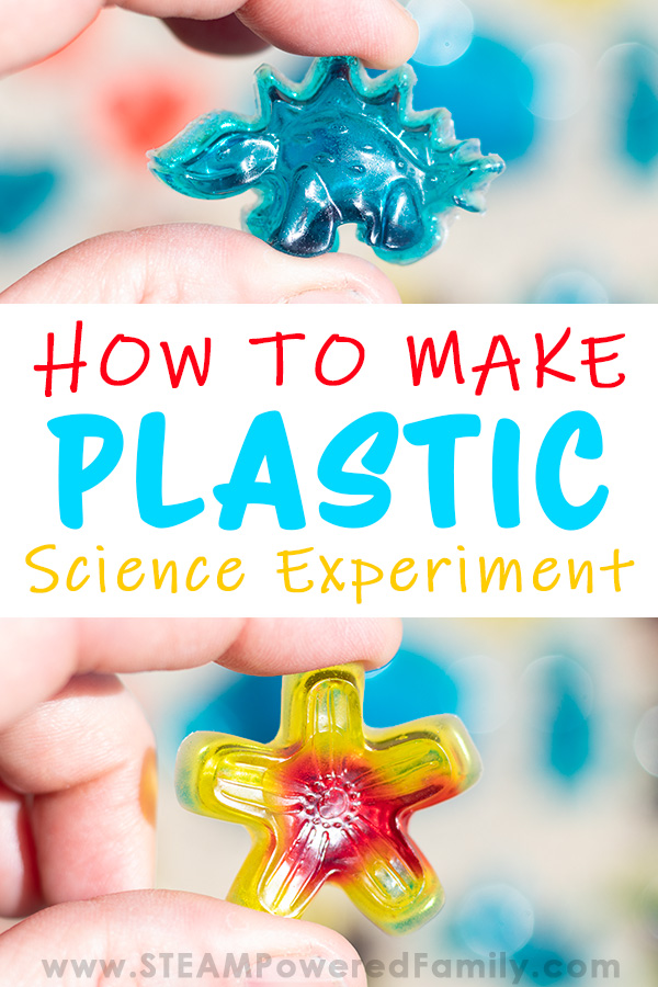 Learn how to make plastic that is shiny, clear and hard with items from your pantry. This bioplastic project is a fantastic science experiment for kids.