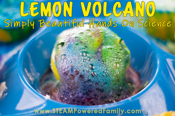 Learn how to make a lemon volcano in this gorgeous, easy to do chemistry experiment and science activity for kids
