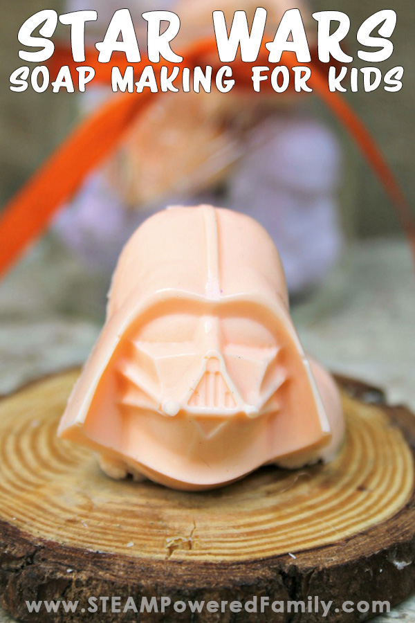 Soap making for kids is easy and fun with this geeky awesome Star Wars soap recipe that smells marvelous