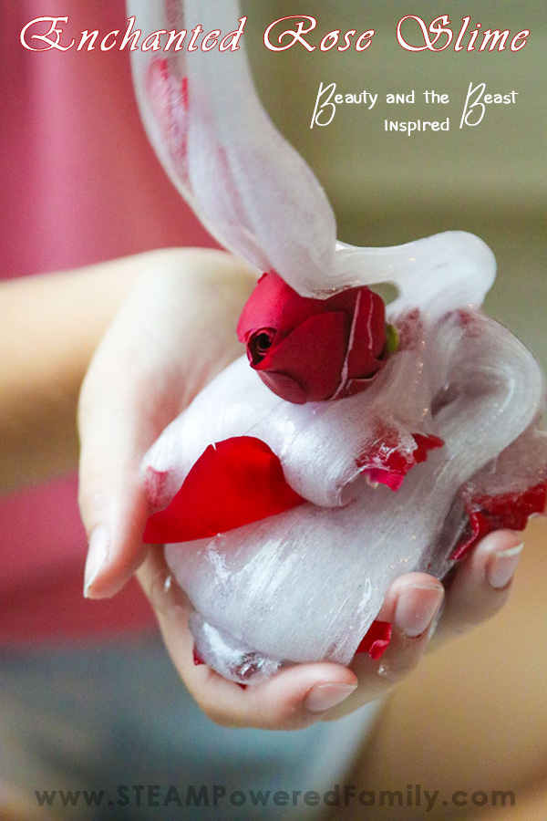 Using real roses and contact lens solution this slime is a delight for the senses