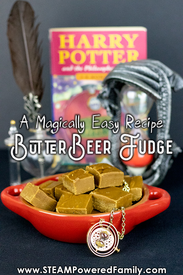 This recipe for Butterbeer Fudge is so easy, kids can make it