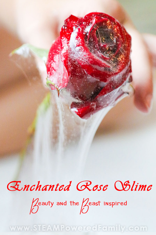 A beautiful sensory experience is rose slime made with real roses