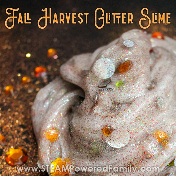 Fall glitter slime smells like the best of fall and harvest