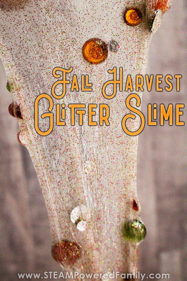 Glitter slime recipe that is like a crisp fall day