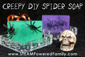 Creepy homemade spider soaps