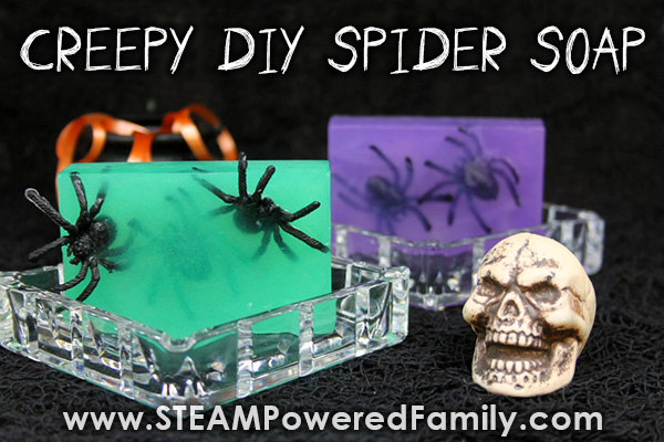 Creepy homemade spider soaps