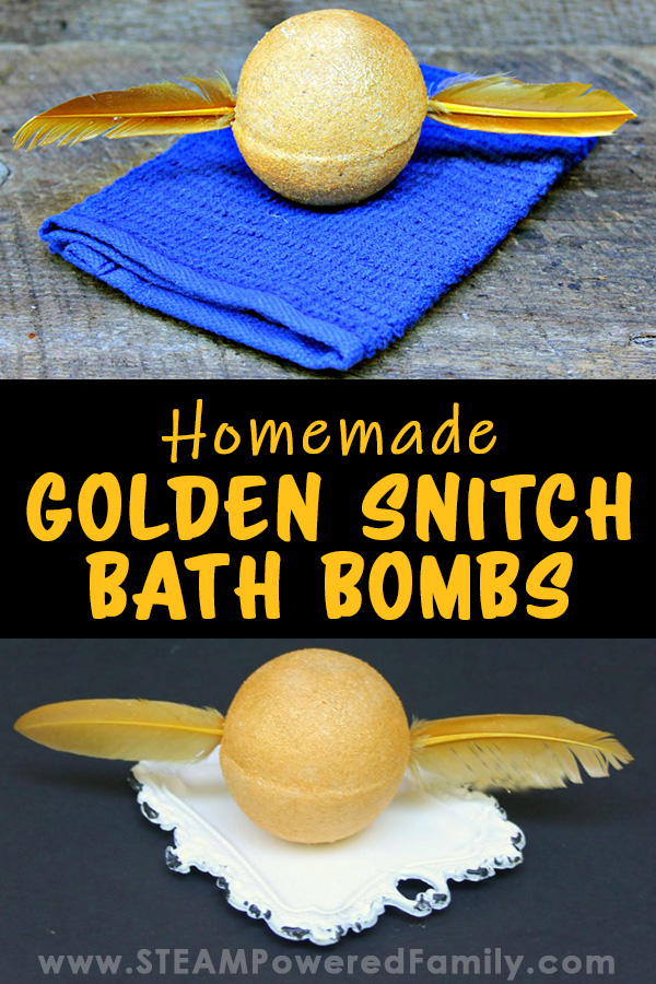 DIY Golden Snitch Bath Bombs are perfect for the Harry Potter lover! Easy to make and sure to impress!