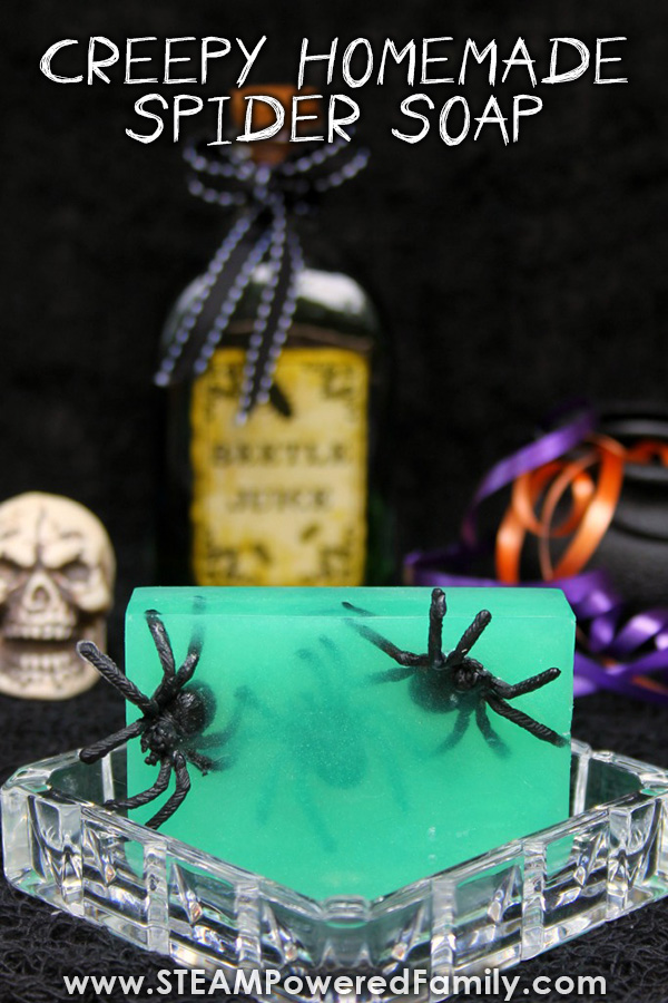 Creepy Halloween Soaps With Spiders