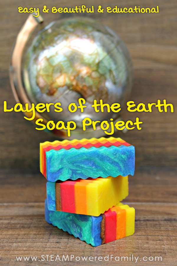 Learn about the Earth with this Layers of the Earth Soap Making activity for kids