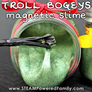 Inspired by Harry Potter this magnetic slime recipe is like troll bogeys