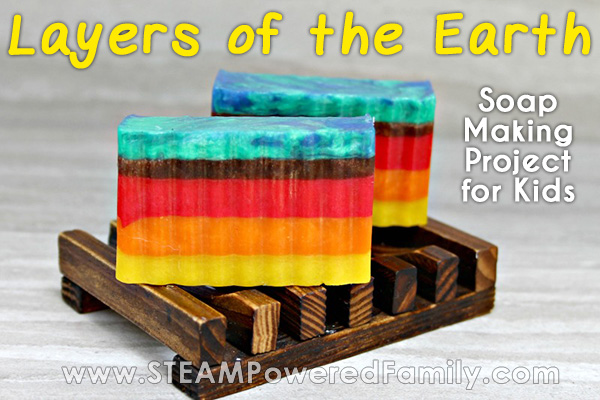 Layers of the Earth Homemade Soap