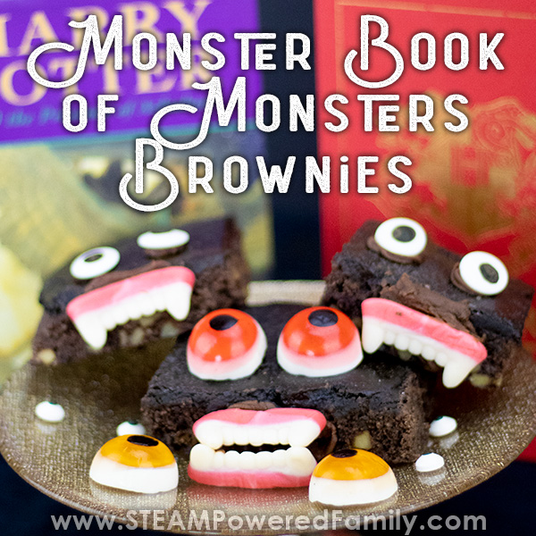 Monster book of Monsters Brownie recipe inspired by a love of Harry Potter
