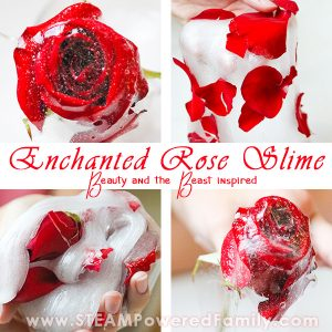 Rose petal slime is the perfect slime for the Beauty and the Beast lover, inspired by the enchanted rose