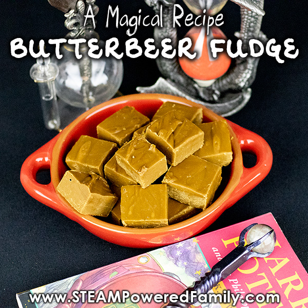 Butterbeer fudge recipe that is easy and tastes like magic