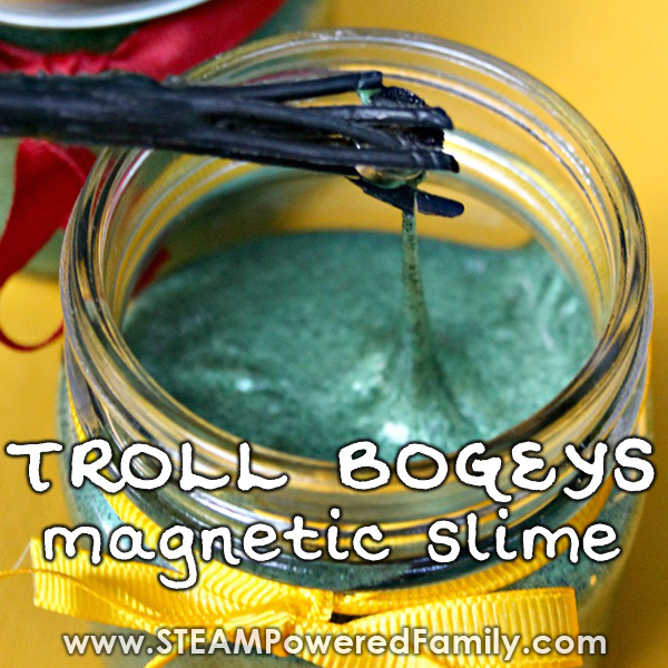 Magnetic slime is even more fun with this troll bogeys version inspired by Harry Potter