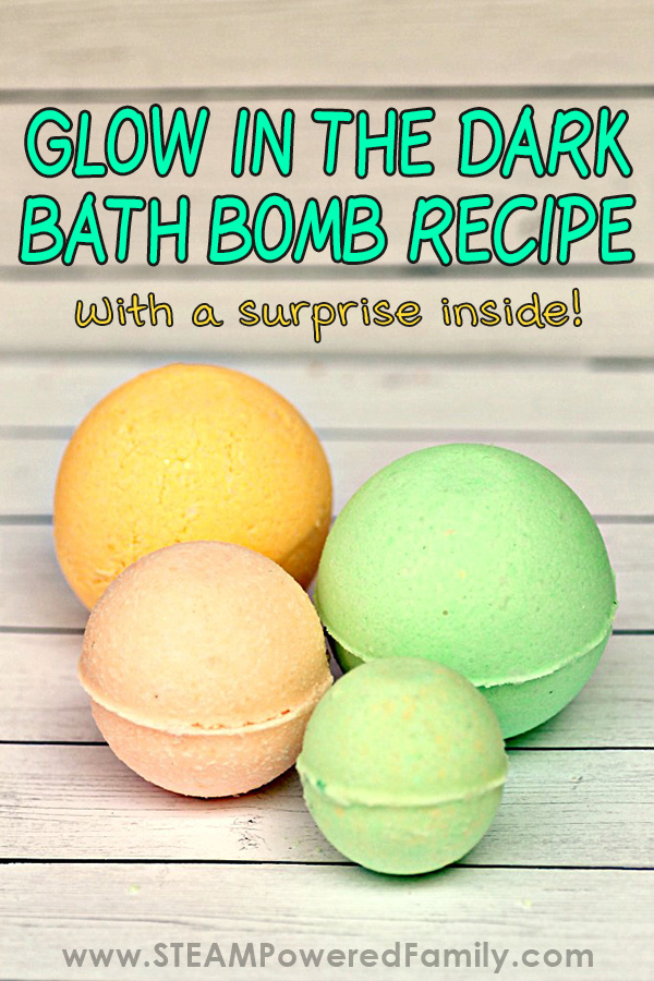 Homemade Glow in the Dark Bath Bombs