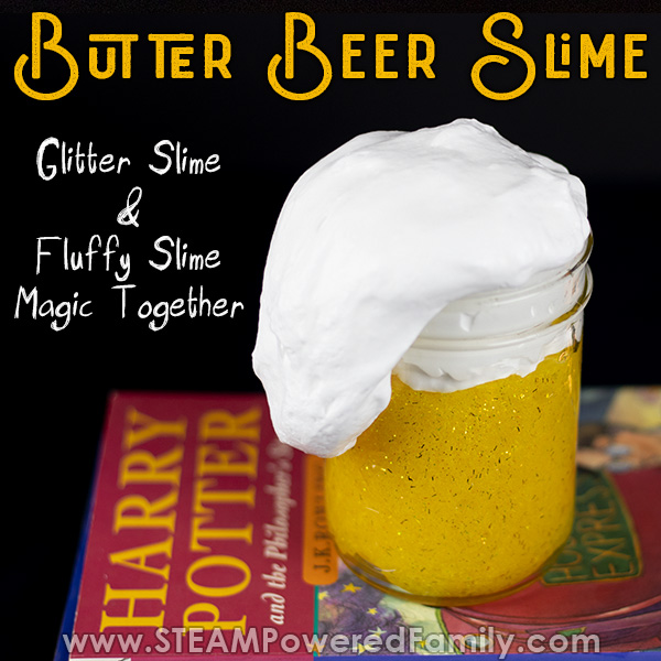 Fluffy and glitter slime together