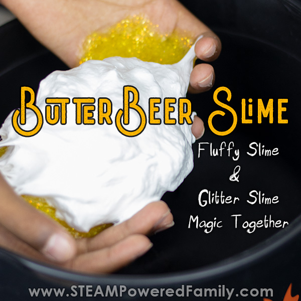 Butterbeer slime recipe like from Harry Potter