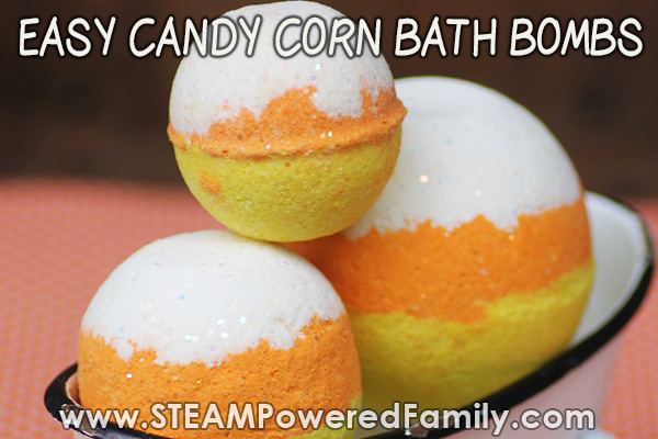 Candy Corn Bath Bomb Making Tutorial