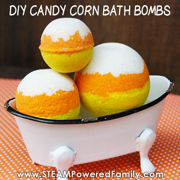 How to make Candy Corn Bath Bombs for fall