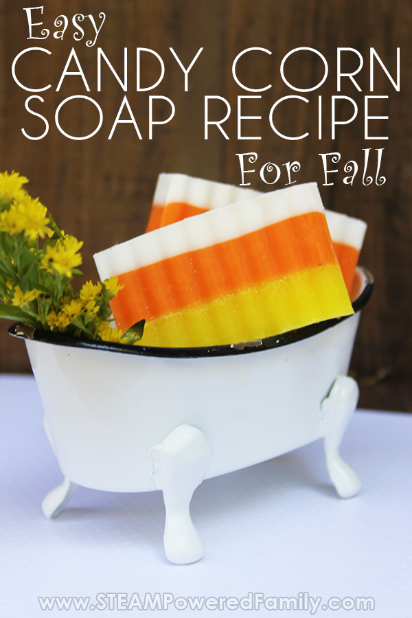 Goat Milk Soap Recipe For kids that looks like Candy Corn