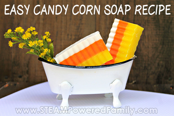 Candy Corn Soap - Homemade Goat Milk Soap Recipe for Kids