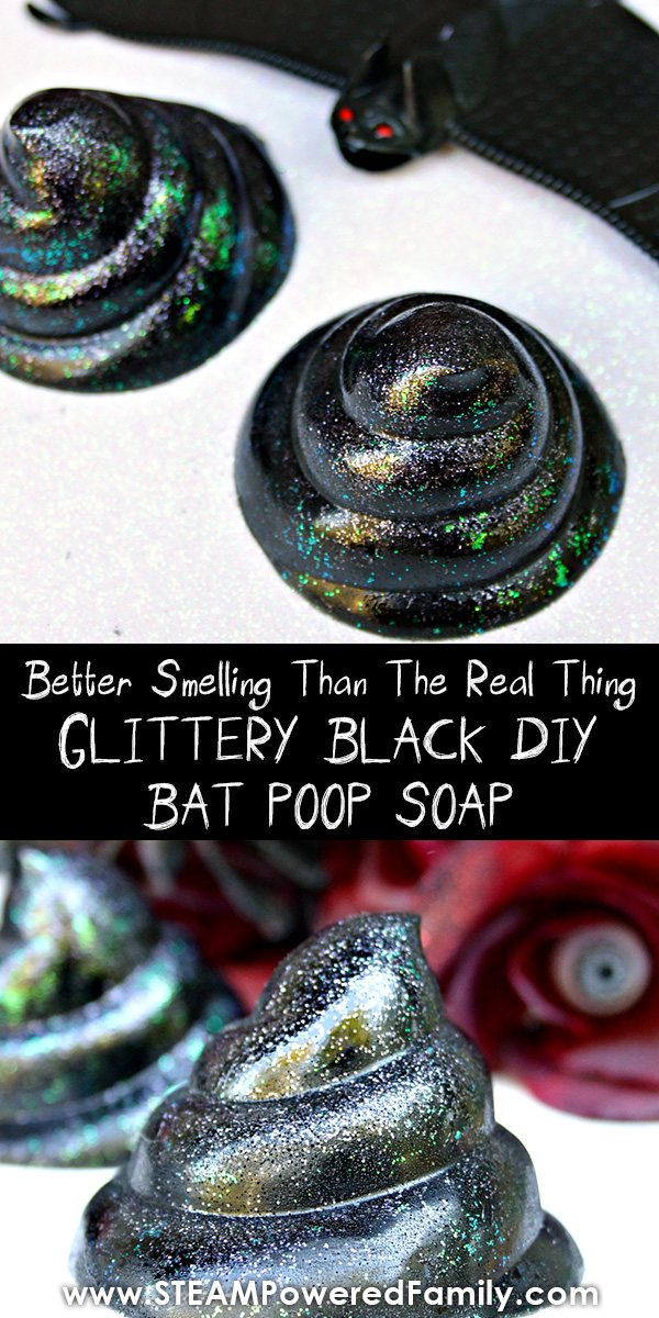 Holographic glitter black soap recipe