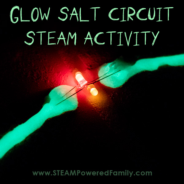 Glowing salt circuit activity to learn the science behind electrical currents